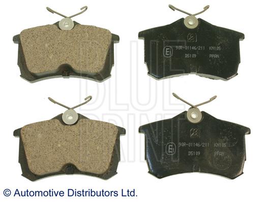 Kit de plaquettes de frein, frein à disque - BLUE PRINT - ADH24257