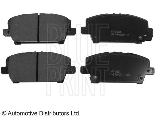 Kit de plaquettes de frein, frein à disque - BLUE PRINT - ADH24271