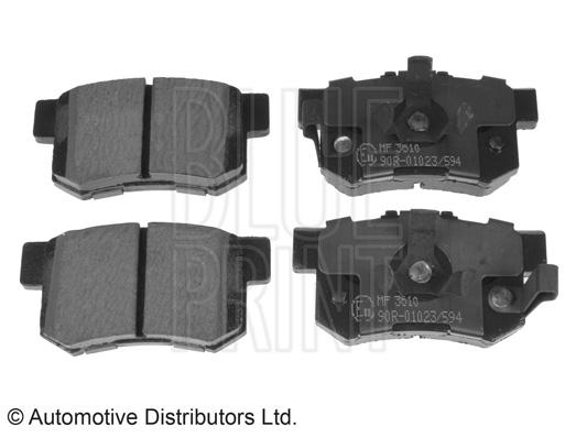 Kit de plaquettes de frein, frein à disque - BLUE PRINT - ADH24280