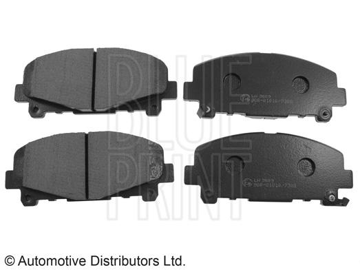 Kit de plaquettes de frein, frein à disque - BLUE PRINT - ADH24282