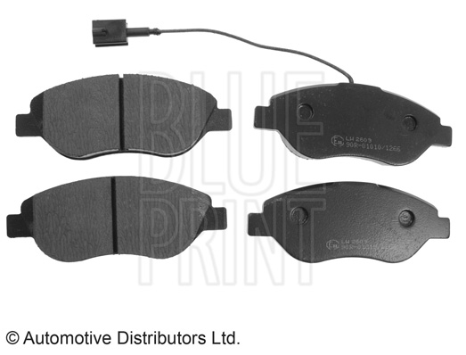 Kit de plaquettes de frein, frein à disque - BLUE PRINT - ADL144203