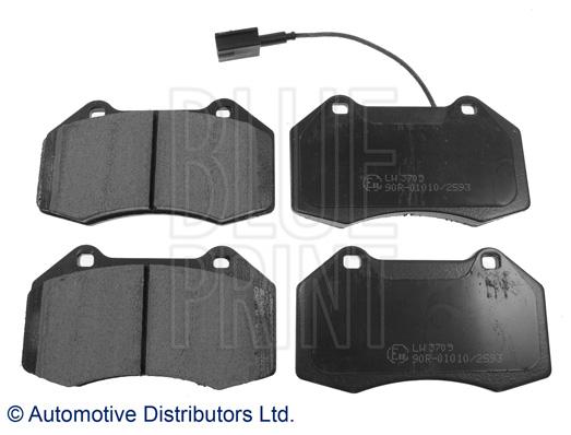 Kit de plaquettes de frein, frein à disque - BLUE PRINT - ADL144208
