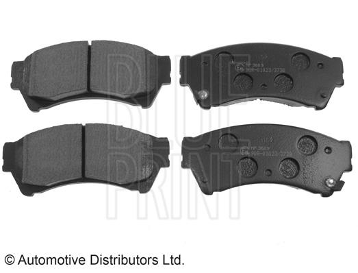 Kit de plaquettes de frein, frein à disque - BLUE PRINT - ADM54296