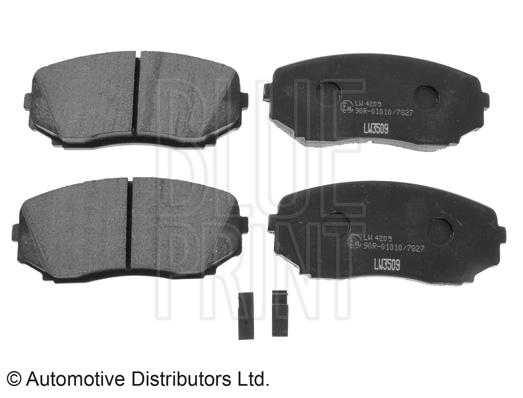 Kit de plaquettes de frein, frein à disque - BLUE PRINT - ADM54297