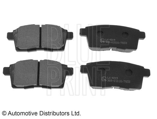 Kit de plaquettes de frein, frein à disque - BLUE PRINT - ADM54298