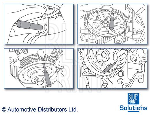 Kit d'outils d'arrêt, épure de distribution - BLUE PRINT - ADM55501