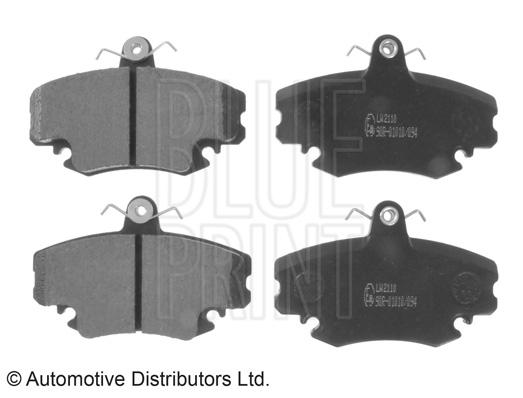 Kit de plaquettes de frein, frein à disque - BLUE PRINT - ADR164203