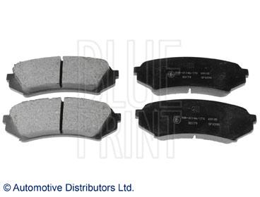 Kit de plaquettes de frein, frein à disque - BLUE PRINT - ADT342111