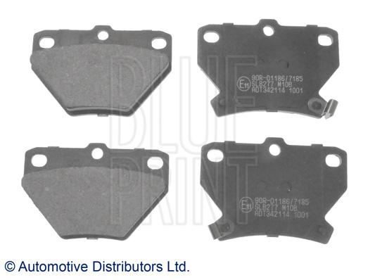 Kit de plaquettes de frein, frein à disque - BLUE PRINT - ADT342114