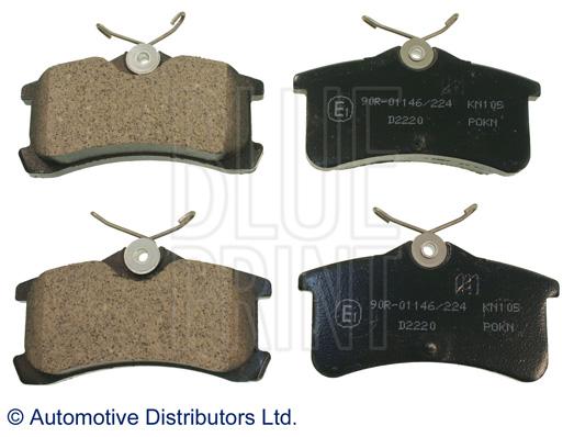 Kit de plaquettes de frein, frein à disque - BLUE PRINT - ADT342115