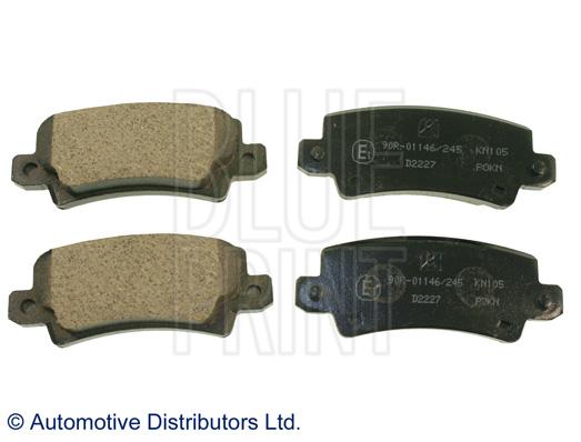Kit de plaquettes de frein, frein à disque - BLUE PRINT - ADT342131