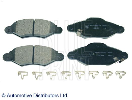 Kit de plaquettes de frein, frein à disque - BLUE PRINT - ADT342139