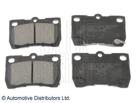 Kit de plaquettes de frein, frein à disque - BLUE PRINT - ADT342178