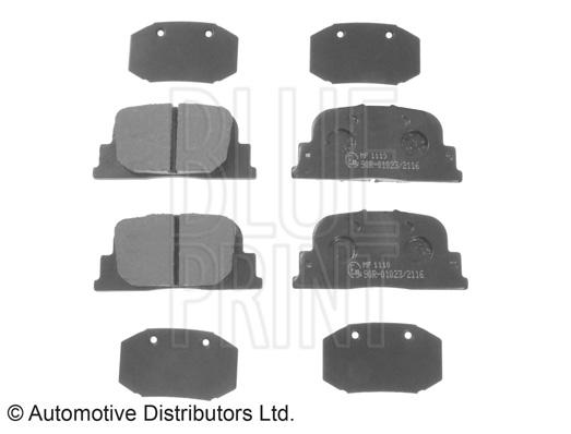 Kit de plaquettes de frein, frein à disque - BLUE PRINT - ADT342179