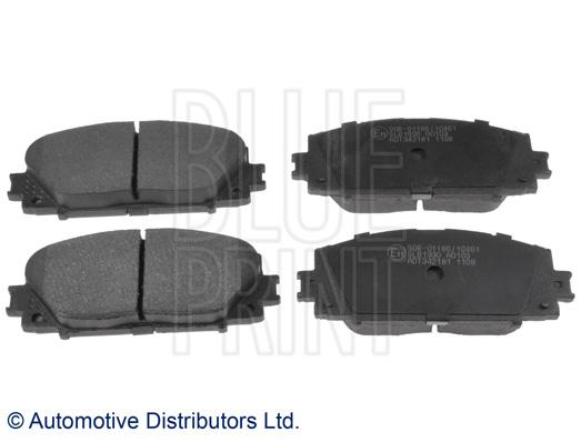 Kit de plaquettes de frein, frein à disque - BLUE PRINT - ADT342181