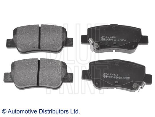 Kit de plaquettes de frein, frein à disque - BLUE PRINT - ADT342183