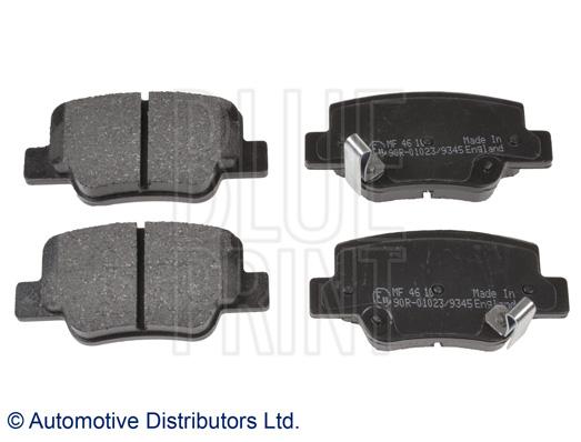 Kit de plaquettes de frein, frein à disque - BLUE PRINT - ADT342184