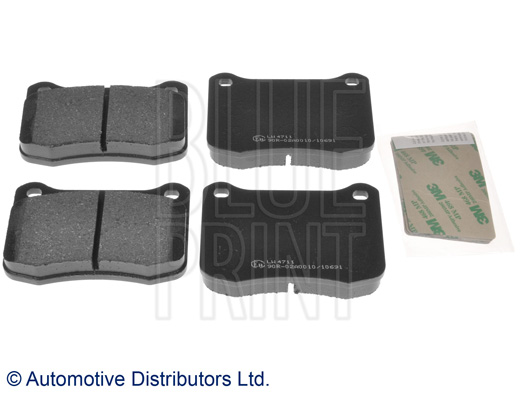 Kit de plaquettes de frein, frein à disque - BLUE PRINT - ADT342188