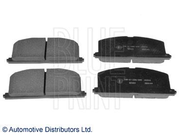 Kit de plaquettes de frein, frein à disque - BLUE PRINT - ADT34279