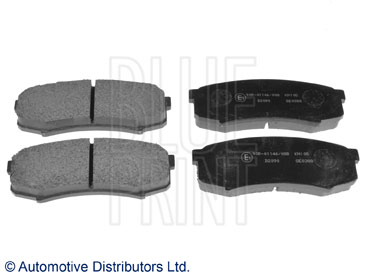 Kit de plaquettes de frein, frein à disque - BLUE PRINT - ADT34280