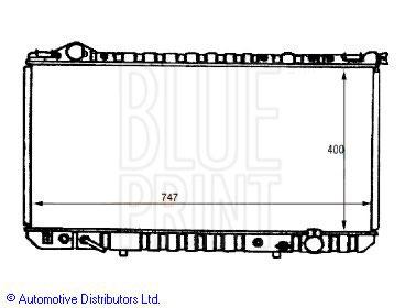 Radiateur, refroidissement du moteur - BLUE PRINT - ADT39848