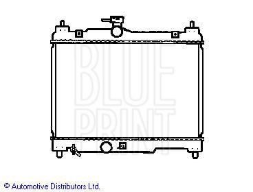 Radiateur, refroidissement du moteur - BLUE PRINT - ADT39855