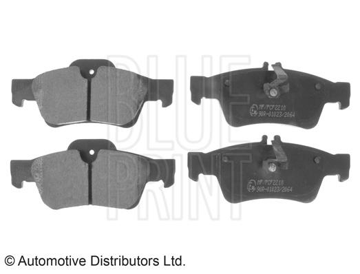 Kit de plaquettes de frein, frein à disque - BLUE PRINT - ADU174203