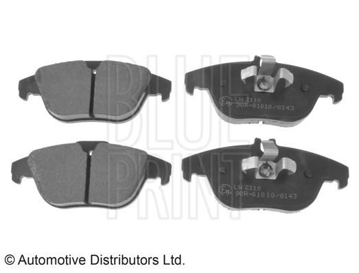Kit de plaquettes de frein, frein à disque - BLUE PRINT - ADU174204