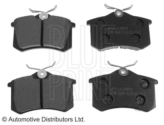 Kit de plaquettes de frein, frein à disque - BLUE PRINT - ADV184206