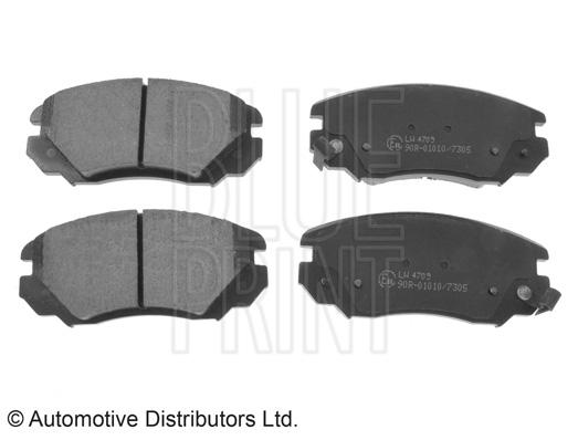 Kit de plaquettes de frein, frein à disque - BLUE PRINT - ADW194201