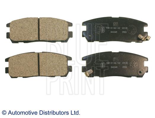 Kit de plaquettes de frein, frein à disque - BLUE PRINT - ADZ94216