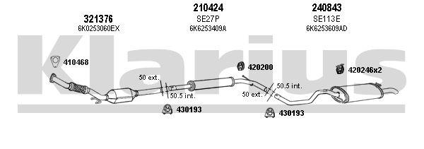 echappement klarius 790370e amapiece. Black Bedroom Furniture Sets. Home Design Ideas