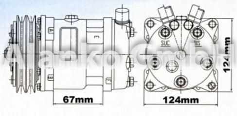 Compresseur, climatisation - TSR - TSR-553008